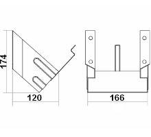 Držák zakládacího klínu pro G46, 166mm, pro klín 550015, zinek