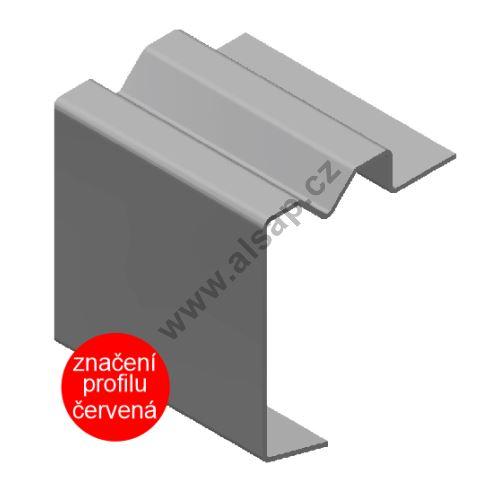 Profil obvodový ST 100x15 mm, s drážkou pro oko ocel 2mm. 6500mm
