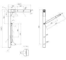Noha pro výměněnné nástavby 1430 mm, 18 t, A1 SB4118SR DB 829, vzpěra bez brzdy 775/500 mm