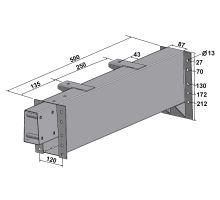 Prodloužení PSA 250 / 500 mm Fiat/Peugeot/Citroen , gzink, bílý lak