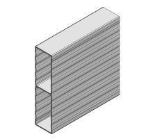 Profil plachtového prkna WAVE 100x25 mm - hliník