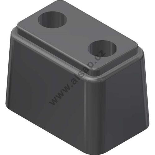 Nárazník gumový 125x80x90mm - černý