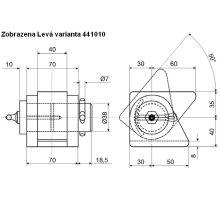 Sada pro jednostranný sklápěč P, do 3,5 t o 38 mm