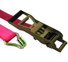 Pás upevňovací červený 50mm,ergo ráčna E50E1,hák/hák 5002, délka 0,5 + 9,5 m