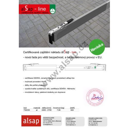 alSap line - rmezibočnicová zábrana