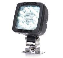 Pracovní světlo / couvací světlo 9 LED Osram/14,4W, W81 černé s držákem, 104 x104 mm