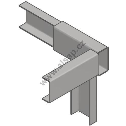 Horní spojka plachtové konstrukce ZP pro 65, 30 x 60 mm,zn