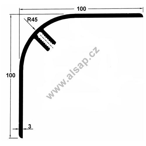 Profil vnější 100/100/7500 mm, 4250201750