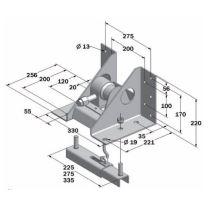 Držák rezervy, 8-10 děr, rozteč 8/225/275 - 10/335mm, lak, s klikou
