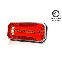 Zadní sdružené světlo W150 LED, L/P, 236 x 104 x 40 mm, 5funkce