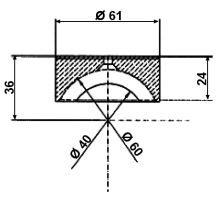 Vložka PVC o 60mm, serie 3000