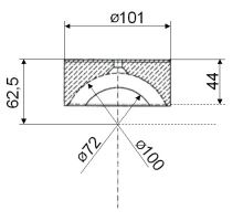 Vložka PVC o 100mm, serie 3000