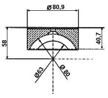 Vložka PVC o 80mm, serie 3000