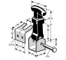 Držák kapoty 57mm komplet, zn
