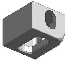 Kontejnerový rohový prvek spodní PL, ZP, ISO 1161