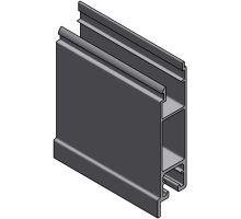 Profil spodní 100 mm p, s praporkem, elox