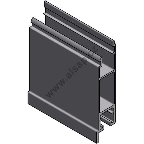 Profil spodní 100 mm p, s praporkem - hliník