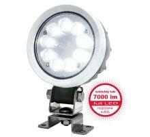 Pracovní světlo 9 LED 7000 lm / 66W - rozptýlené, W162 hliníkový kryt, o108, h 76mm, NEW