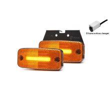 Boční poziční světlo LED Oranžové, W157, NEON, držák Z, kabel 0,5m click Jaeger
