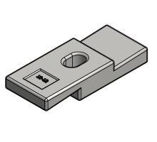Svorka ocelová pro rám 7-8, 10-12 mm, 125x50mm, o 14 mm