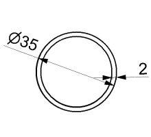 Trubka plachtové konstrukce 35mm