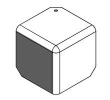 Kryt rohu skříně 105mm - RAL 9010, pro profil 85, R10