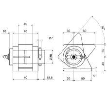 Sada pro jednostranný sklápěč L, do 3,5 t o 38 mm