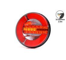 Zadní sdružené světlo LED W153DD, L/P, o142mm - dynamické směrové světlo