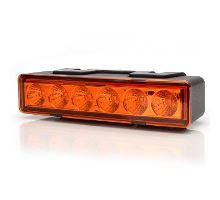 LED predátor / výstražné světlo oranžové, oranžový kryt, 7 modů, W117, kabel 3m