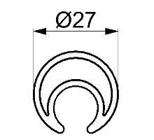 Profil pro napínání plachty o 27 mm