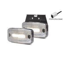 Přední poziční světlo LED Bílé, W157, NEON, držák Z, kabel 0,5m click Jaeger