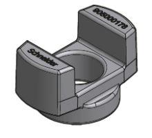 Podložka matice zámku nosníku výměnné nástavby pro o 38 mm