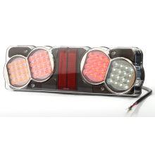Zadní sdružené světlo LED, L, 482 x 146 x 75 mm, zátěž 21 W, s kabelem+ osvětlení SPZ dolů