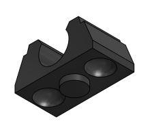 Uložení trubky 35mm - guma 90 mm