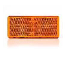 Odrazka 96x42 oranžová - boční, lepící