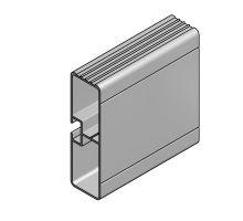 Profil boční zábrany TL1210XX, 100/30 mm, elox stříbrný, s homologací E11