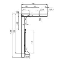Noha pro výměněnné nástavby s celkovou hmotností max 18 000kg,rozměry dle DIN EN 284