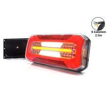Zadní sdružené světlo W185 LED, L/P, 306 x 133 x 60mm, 5funkce + bočni osvětlení SPZ