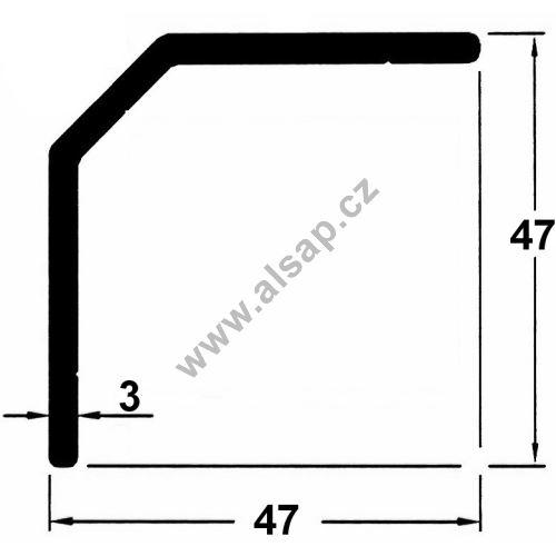 Profil vnitřní 17/47/7500 mm, 4250211750
