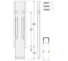 Sloupek boční kinnegrip ZN 600/120 mm