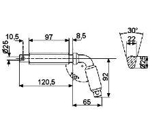 Kolík zajišťovací o 80mm, typ 2, serie 3000