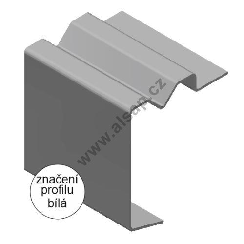 Profil obvodový ST 100x18 mm, s drážkou pro oko ocel 2mm, 6500mm