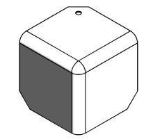 Kryt rohu skříně 90mm - RAL 9010, pro profil 65, R10