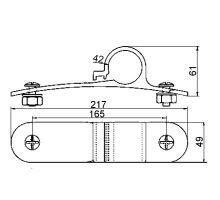 Držák blatníku 42mm pevný - plast