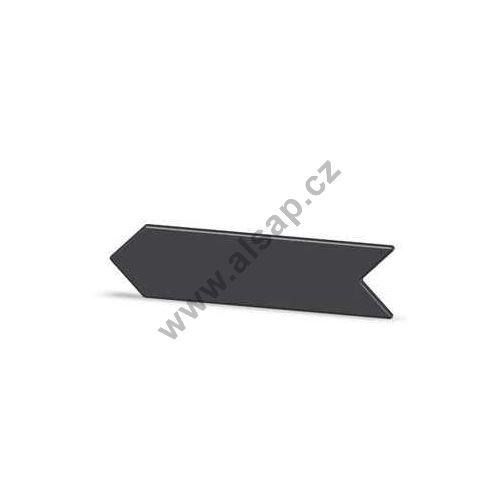 Přelepka rohu těsnění 78mm, černá