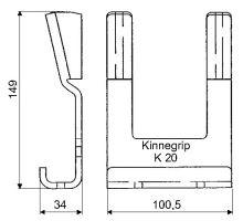 Kapsa kinnegrip K20, šroubovací, zn