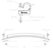 Držák blatníku 42mm nasazovací - nastavitelný - plast  NEW