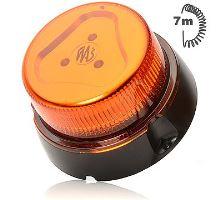 Maják oranžový kryt,8 modů, magnet, W112, spirálový kabel 7m,zástrčka do autozapalovače