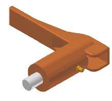 Kolík zajišťovací o25 mm,pro skl.nohy