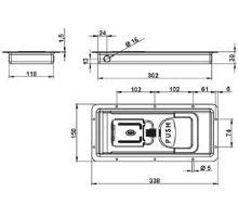 Závěr vestavný PUSH pro 29/16mm, nerez, včetně háků a protikusů